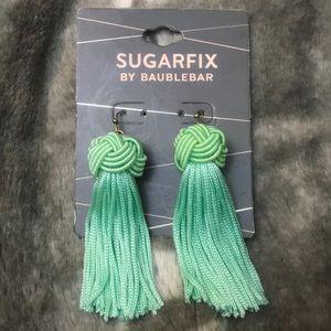 Sugarfix by Baublebar Mint Green Tassel Earrings